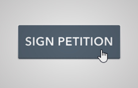 intentions: Online petition button