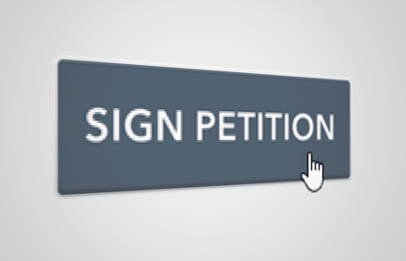involvement: Online petition button