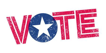 Voto EE.UU. sello Ilustración de vector