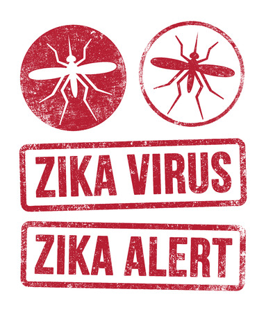 mosquitos: Zika virus stamps
