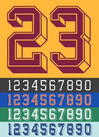 Vintage Jersey font numbers