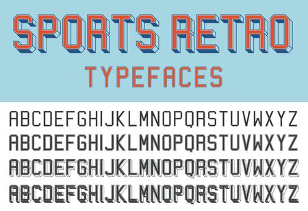 typefaces: Sports retro typefaces Illustration