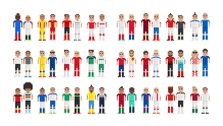 bale: Cup 2016 Football players in pixels