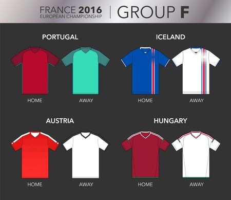 strip shirt: European Cup 2016 - Group F