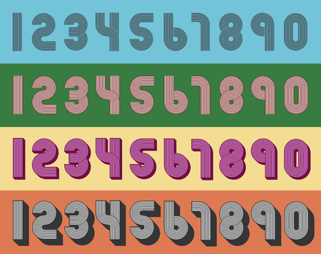 numbers: Vintage numbers