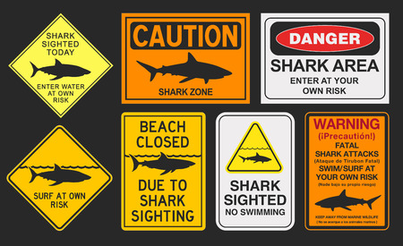Shark warning signs