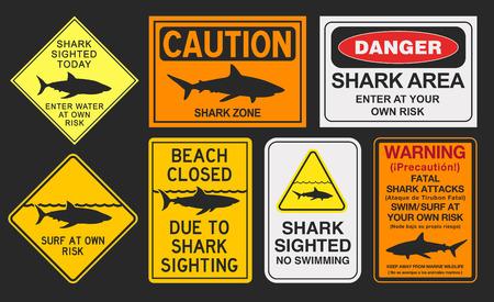 signos de precaucion: señales de advertencia de tiburón