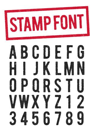 Stamp typeface Illustration