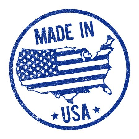Made in USA stamp Vektoros illusztráció