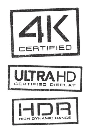 hdr: Video technologies certified stamps Illustration