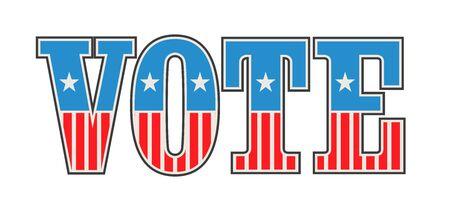 Vintage US Vote Ilustrace