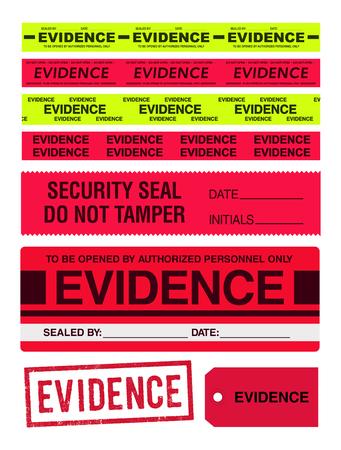 cintas evidencia, sello, pegatinas y etiquetas