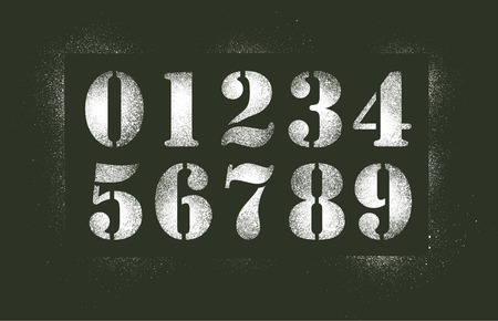 Numbers stencil spray