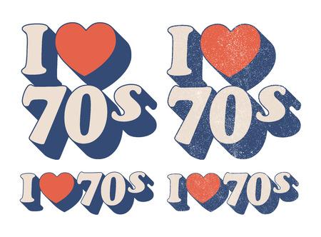 vintage sign: I Love 70s