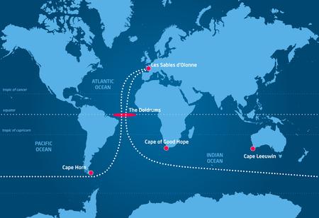 world sport event: Sailing race around the world