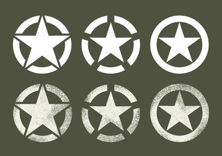 Militares de los EEUU estrellas Foto de archivo - 64605302