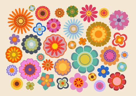 빈티지 꽃 (파트 4) 스톡 콘텐츠 - 64611191