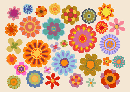 Vintage flowers (part 5) Stock Vector - 64611154
