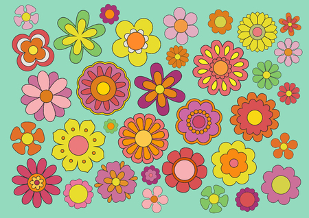 vegetal: Sixties flowers