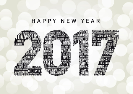 new years resolution: Happy New Year 2017 in different languages