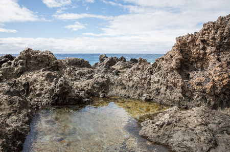 Volcanic rocks in Playa San Juan - Tenerife