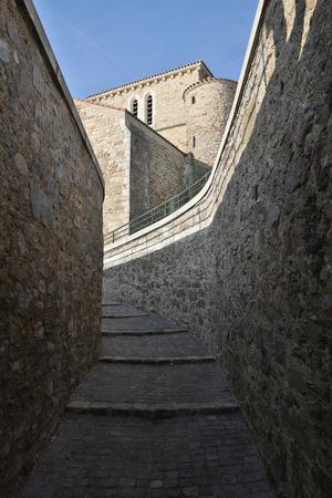 saint nicolas: Steps to the Priory Saint Nicolas (Les Sables dOlonne - France)