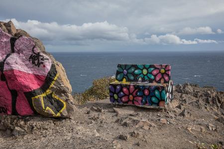 Bench at the viewpoint of Las Teresitas (Tenerife - Spain) Editorial