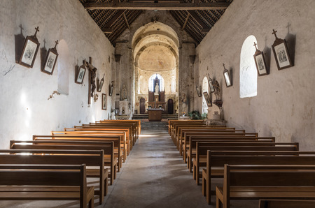 vendee: Inside of the Church Saint-Nicolas in Brem-Sur-Mer (Vendee, France) Editorial