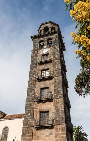 la: Tower of the church de la Concepcion in La Laguna (Tenerife, Spain) Stock Photo