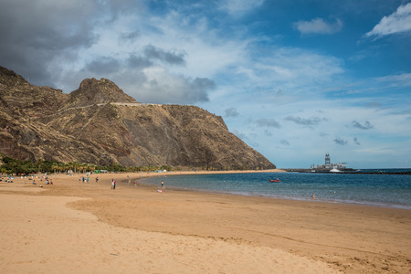 Las Teresitas beach in Tenerife (Canary Islands, Spain)