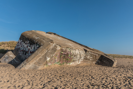 vendee: Bunker on the beach of Sion (Vendee, France)