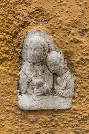 Bas relief in the streets of Puerto de la Cruz (Tenerife, Spain) Stock Photo