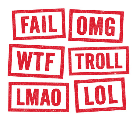 slang: Web acronyms stamps