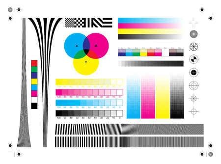 Calibration printing marks Stock Vector - 68696710