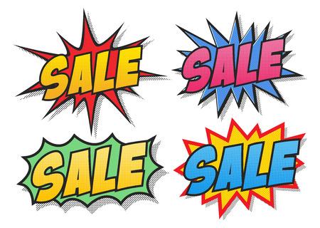Sale comics bubbles Illustration