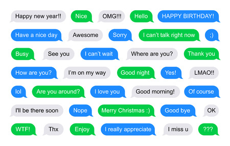 short message service: SMS bubbles short messages