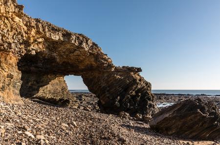 ark: Ark rock formation (Pointe du Payre, France) Stock Photo