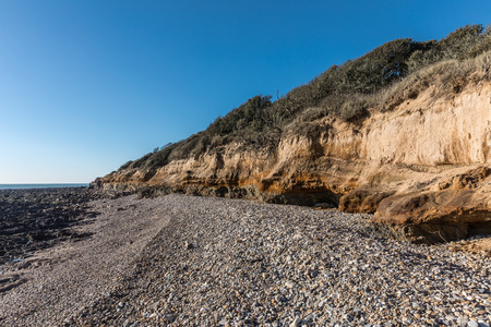 vendee: Small cliffs on la Pointe du Payre in Vendee (France) Stock Photo