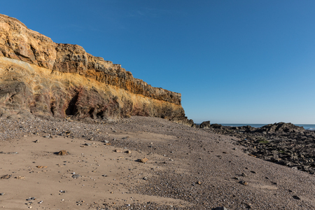 Small cliffs on la Pointe du Payre in Vendee (France) Stock Photo