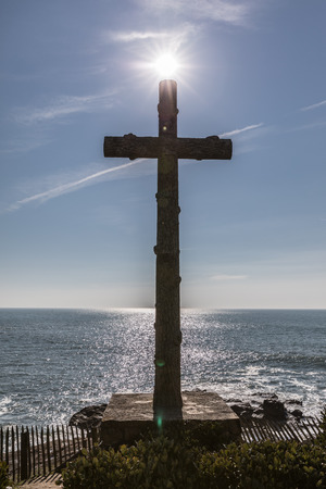 Great cross facing the sea in Les Sables dOlonne, France