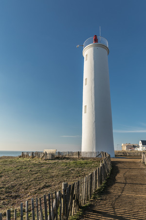 saint: Grosse Terre lighthouse in Saint Hilaire de Riez, France Stock Photo