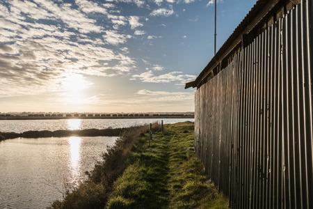 The salt marshes of Olonne (Olonne-sur-Mer, France) Stock Photo