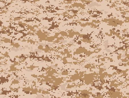 Desert pixels camouflage  イラスト・ベクター素材