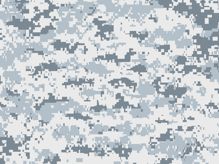 digital background: Snow pixels camouflage Illustration