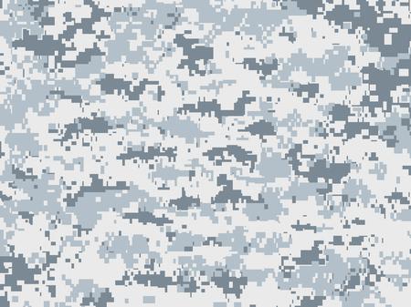 Snow pixels camouflage Illustration