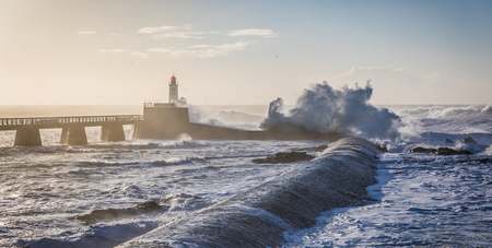 wheater: Storm on the great jetty of La Chaume (Les Sables dOlonne, France)