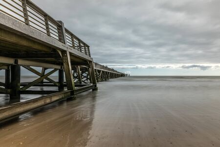 saint: Pier of Saint Jean de Monts (Vendee, France)