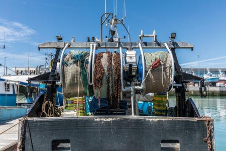 industry: Trawl net reels Stock Photo