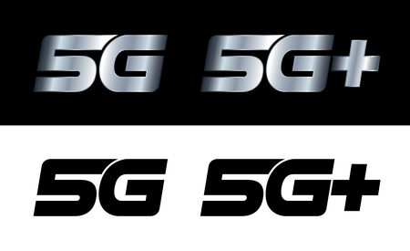 steel industry: Modern 5G and 5G+ signs Illustration
