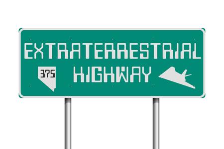 Extraterrestrial Highway road sign
